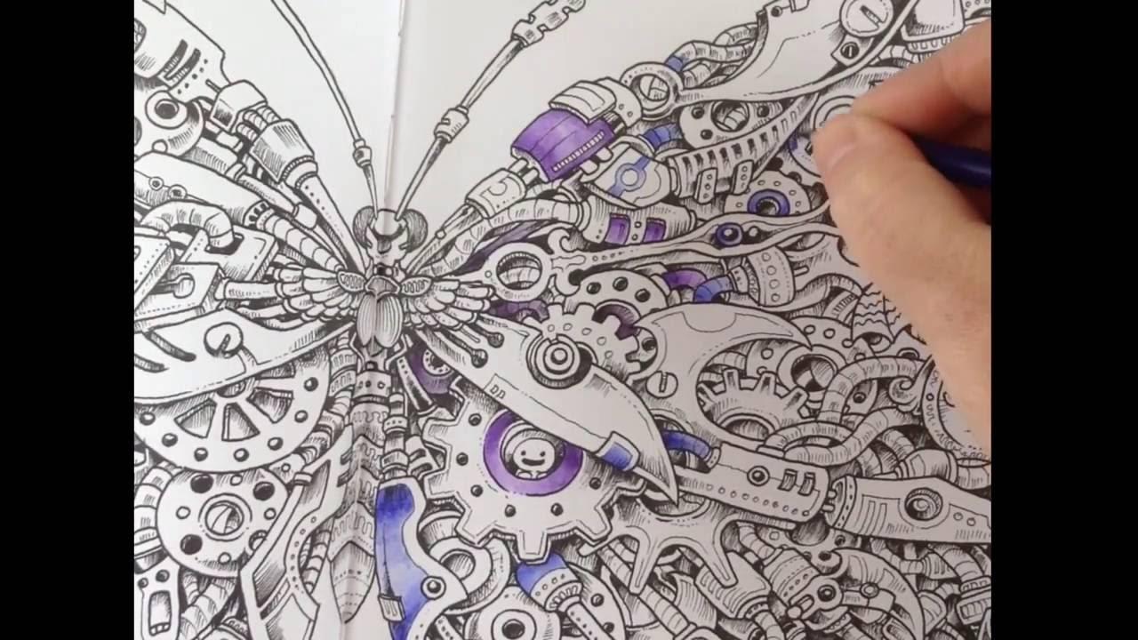Imagimorphia - coloring with inktense pencils + Zig ...