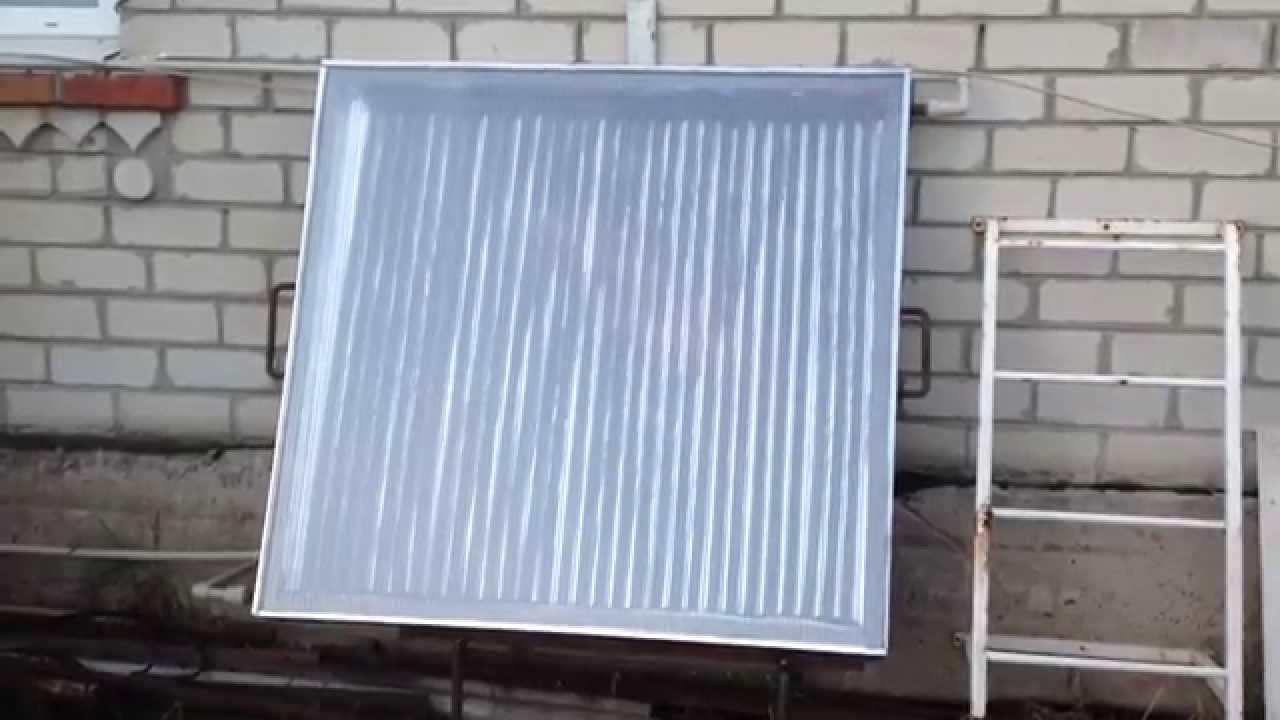 Солнечный коллектор своими руками видео ютуб фото 677
