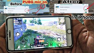 How to mic on in Pubg mobile game on iPhone in hindi || full setting Pubg mic on Apple phone