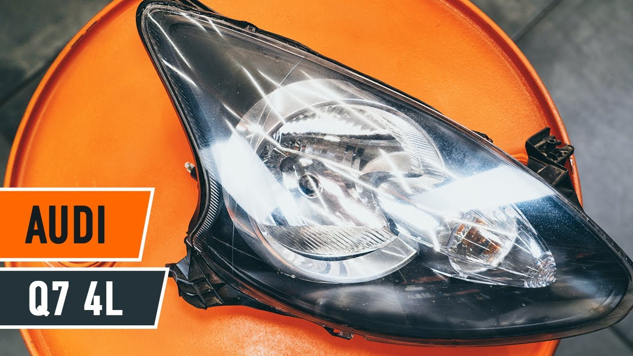How to replace headlight Audi Q7 4L GUIDE | AUTODOC - YouTube