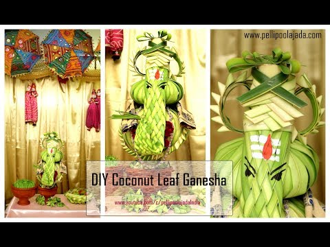 Eco Friendly Ganesha | Coconut leaf Ganesha
