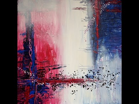 "Abstrakte Acrylmalerei ""Blaues Tor"" – Abstract Acrylic Painting ""Blue Gate"" – StiiN Art"