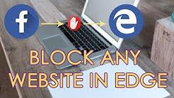 BLOCK ANY WEBSITES IN MICROSOFT EDGE | BROWSER TIPS | WINDOWS 10 TIPS & TRICKS