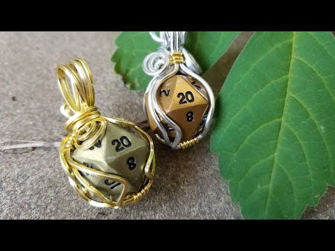 Square Wire Wrapped Dice