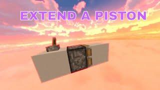 EXTEND A PISTON | MINECRAFT | COOL EDITS series #1