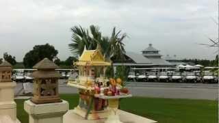Thailand.にできた、新しいゴルフ場です。 2011,6月 オープン前にラウ...