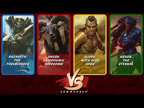Commander VS S8E1: Razaketh vs Unesh vs Djeru vs Neheb