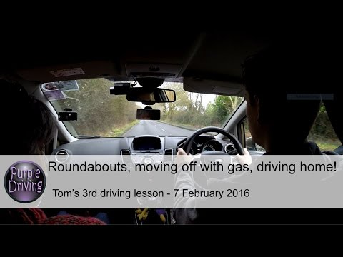 Rbs, moving off with gas, driving home! Tom's 3rd driving lesson. 7/2/16