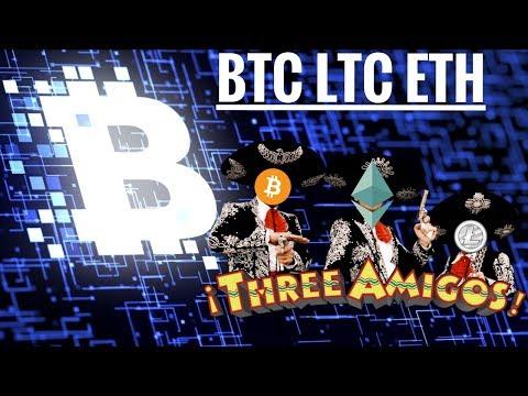 Three Amigo Update - Bitcoin Litecoin Ethereum plus OMG and Verge