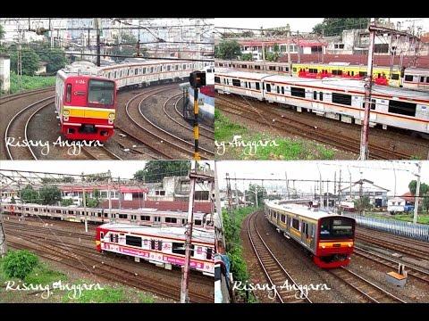 [Kompilasi] Rush Hour at Jatinegara Station - KRL Commuter Line Jabodetabek