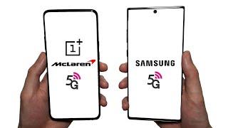 OnePlus 7T Pro 5G McLaren vs Galaxy Note 10+ 5G Speed Test, Speakers, Battery & Cameras!