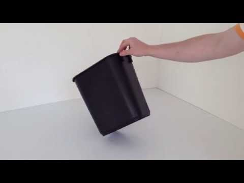Black Plastic Wastebasket | Prestige Office Accessories