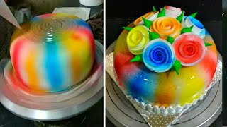 Top Amazing Rainbow Cake | Best Decoration | Making By Sunil Cake Master