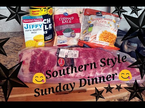 Sunday Dinner~ Candied Ribs/Sauted Kale/Cornbread Casserole/Ranch Beans/Banana Pudding
