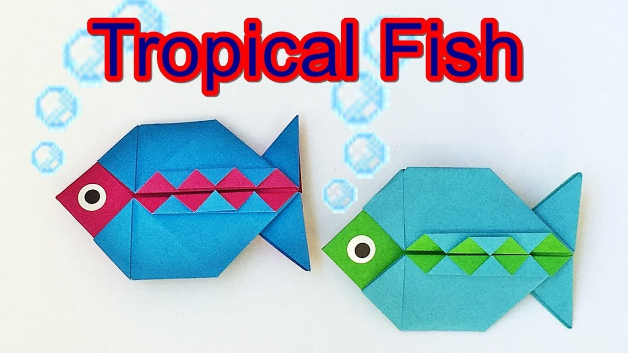 How to make a paper fish origami tropical fish tutorial with how to make a paper fish origami tropical fish tutorial with only one piece of paper jeuxipadfo Images