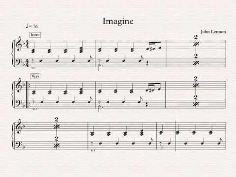 Imagine I F Dur Piano Youtube