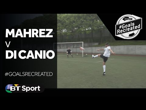 Riyad Mahrez attempts to recreate the Paolo Di Canio volley  GoalsRecreated New Flash Game
