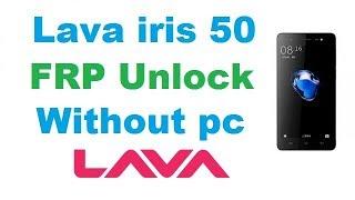 Bypass account google lava iris 50