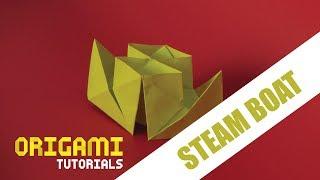 Origami Steam boat