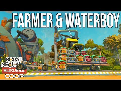 Download HAY MAZE = OP FARM??? - Scrap Mechanic Survival Coop - E10