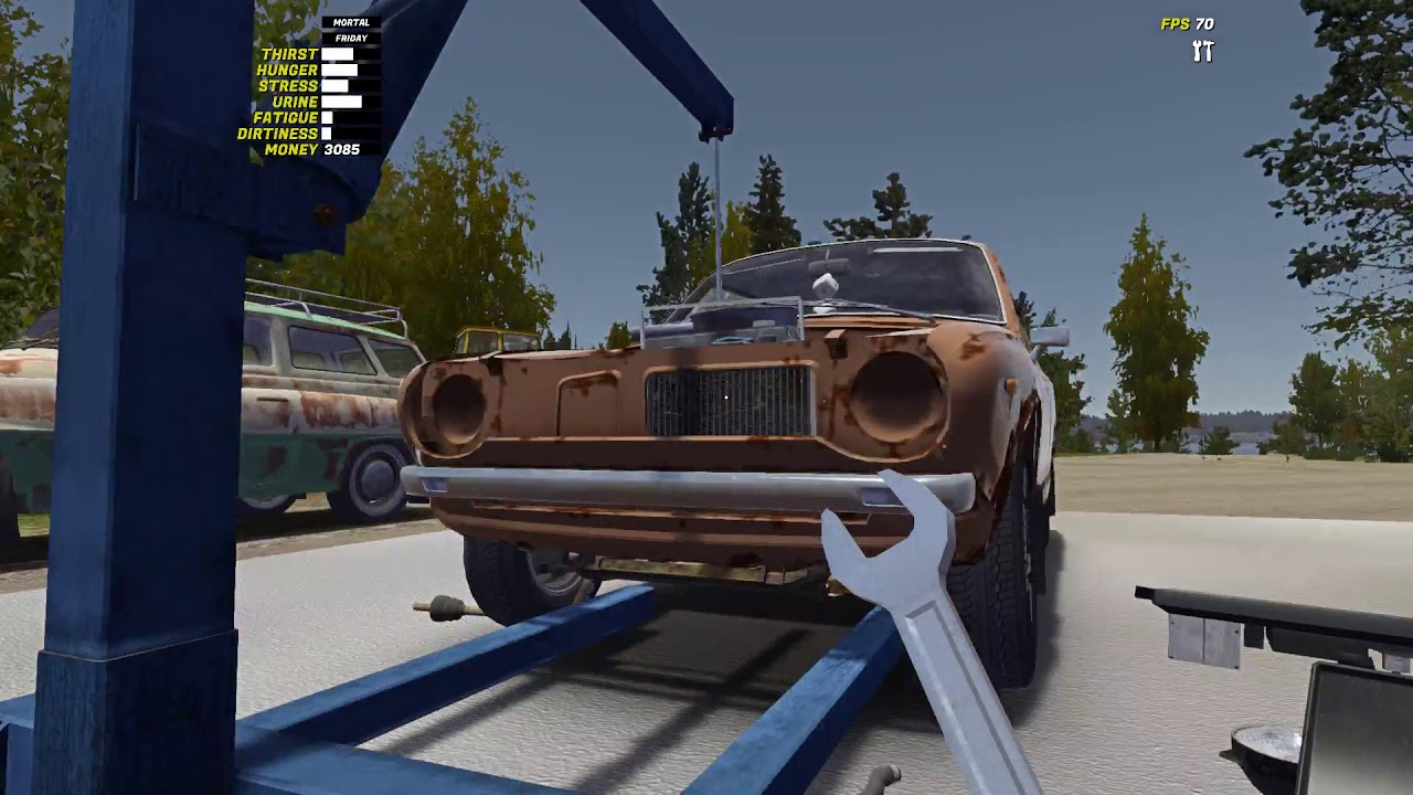 My Summer Car How To Attach The Engine To The Motor Hoist