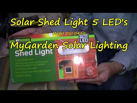 Solar Shed Light 5 LED's