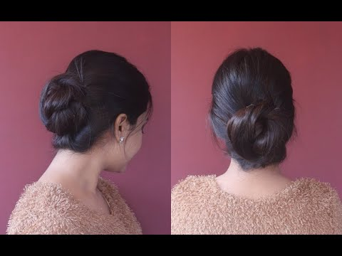 my-everyday-bun|loose-bun-for-all-day|simple-&-easy|quick-hairdo|asmita