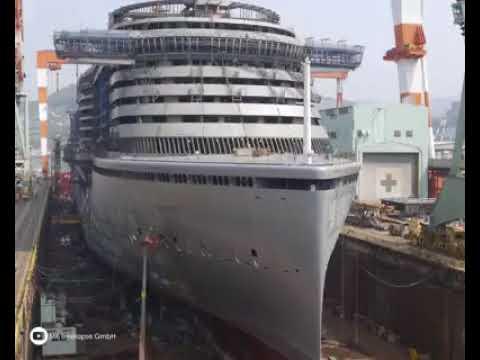 உல்லாசப் பயணக் கப்பல் ஓன்று கட்டும் காட்சி,Tourism. Ship ships. Building display,