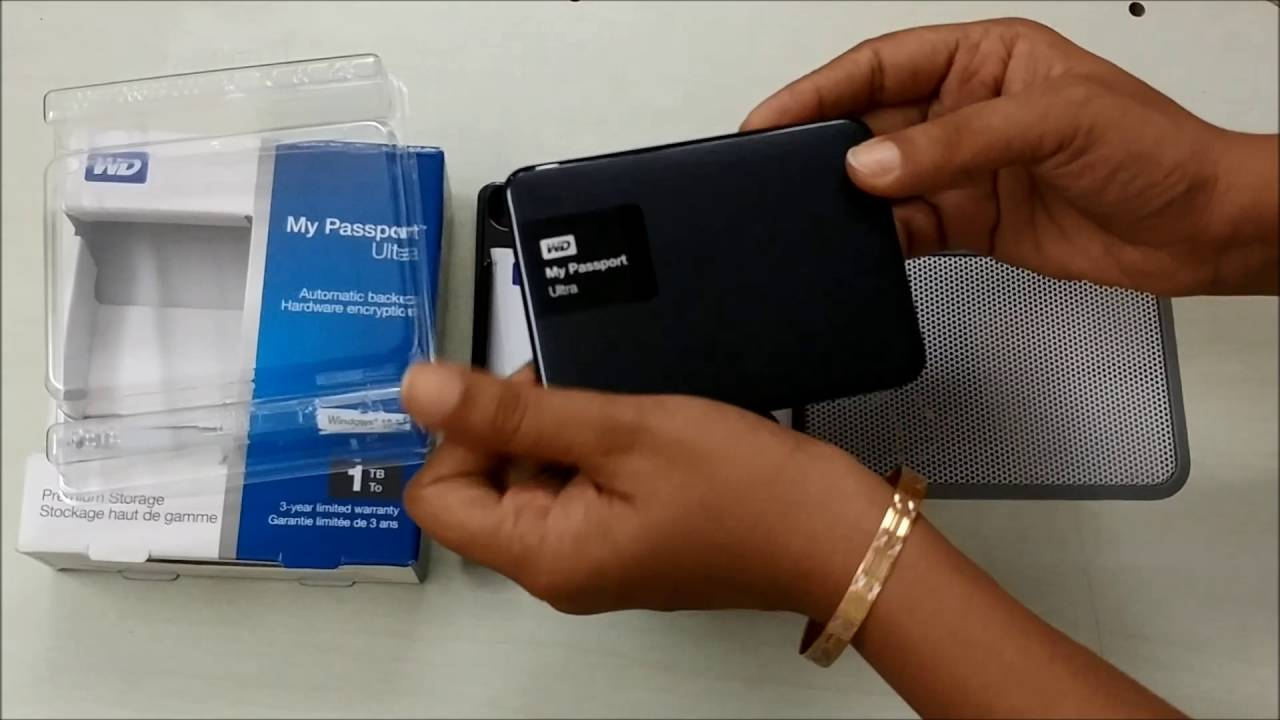 WD My Passport Ultra 1TB Hard Disk Unboxing and Review | Best Portable Hard  Disk