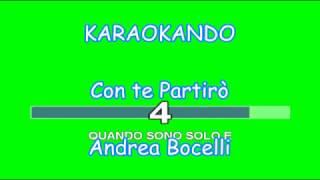 Karaoke Italiano - Con Te Partirò - Andrea Bocelli ( Testo )