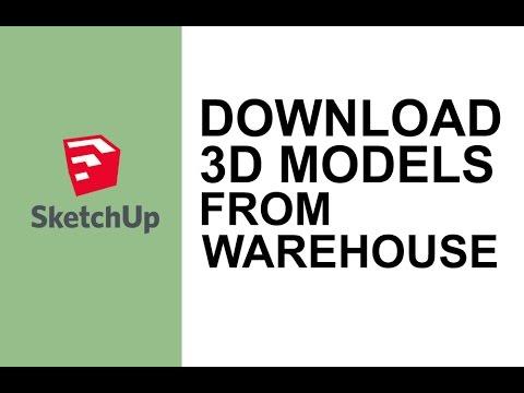 Sketchup cara mendownload model 3d dari warehouse youtube.