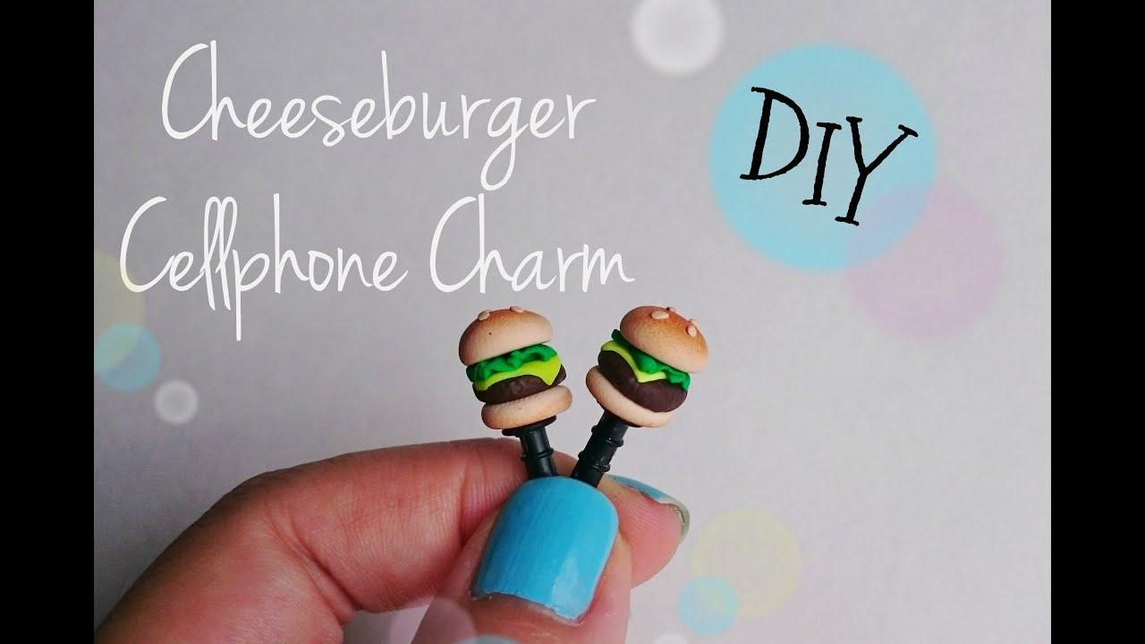 Diy cheeseburger dust plug cellphone charm youtube