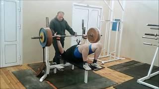 Тренировка 05.12.2018г. Жим в борцовском мосту.