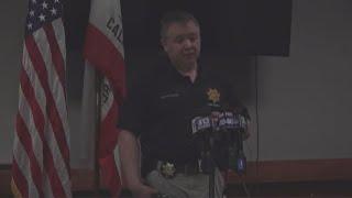 RAW | Update on Davis police officer shot, manhunt for shooter