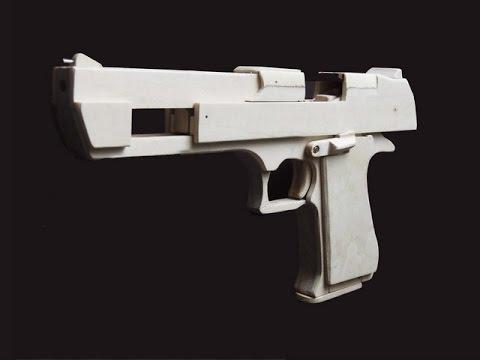Shell Ejection Rubber Band Gun - Mechanism of Desert Eagle