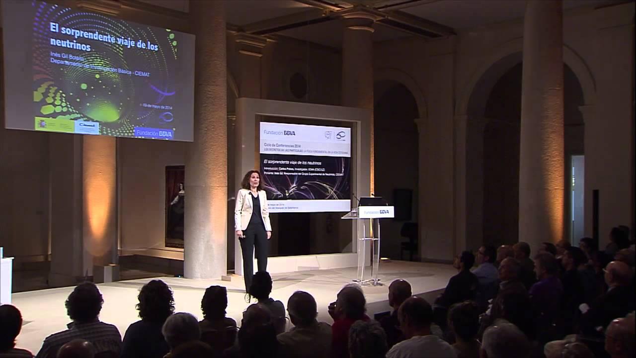 Conferencia de Inés Gil, Responsable del Grupo Experimental de Neutrinos, CIEMAT