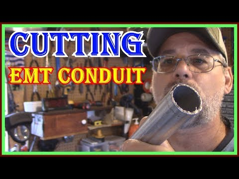 HOW TO CUT EMT CONDUIT - SAWZALL VS PLUMBING TUBE CUTTER