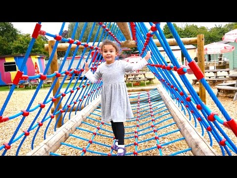 Huge Kids Outdoor Playground with Slide, Tree House and Pirate Ships in the Park