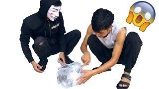 PHD | Thử Thách Lấy Tiền Trong Tảng Băng | Money Ice Challenge