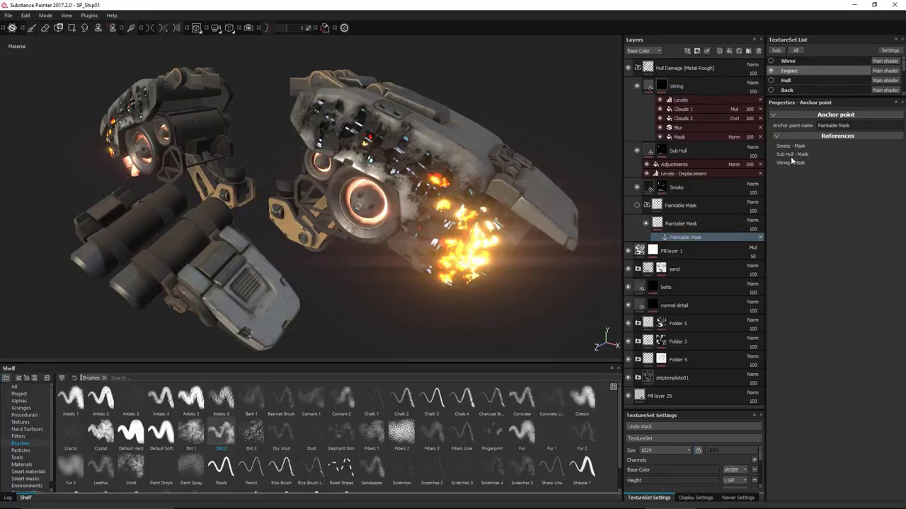 Anchor Points: New Feature in Substance Painter