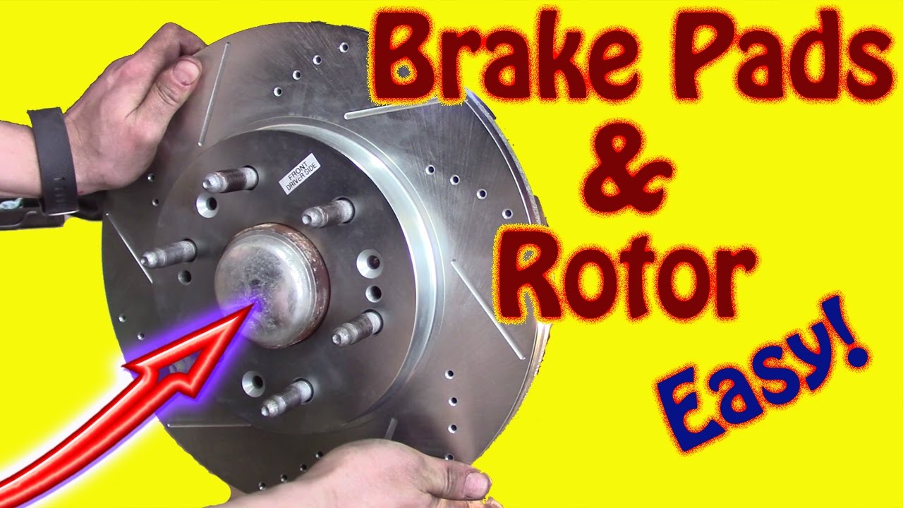 small resolution of diy how to replace front brake pads and rotors on a 2014 gmc sierra chevy silverado disk brake job