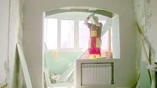 видео Перепланировка балкона в домашний кабинет