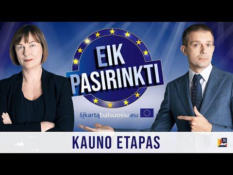 Eik Pasirinkti Europos Parlamento kandidatų intelektualus žaidimas - debatai. Kauno etapas