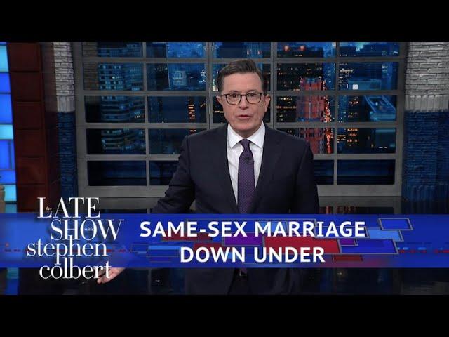 Colbert Celebrates Aussie LGBTQ Pride