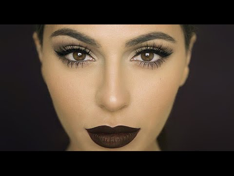fall-makeup:-dark-matte-lips-|-lipstick-tutorial-|-teni-panosian