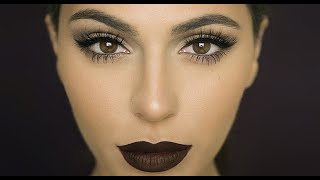 Fall Makeup: Dark Matte Lips | Lipstick Tutorial | Teni Panosian