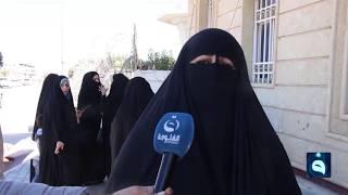 محاضرون في المدارس يحتجون أمام مبنى محافظة المثنى للتثبيت الدائم