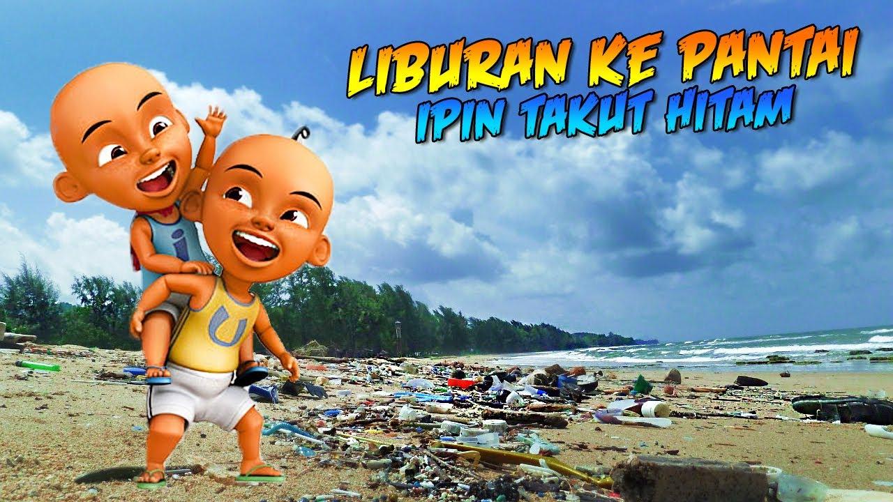 UPIN & IPIN LIBURAN KE PANTAI, IPIN TAKUT HITAM! - GTA Duo Tuyul