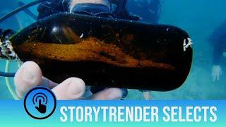 Shrimp found living inside beer bottle