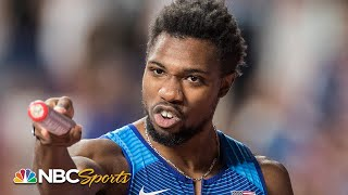 Noah Lyles' golden anchor leg gives USA 4x100 relay world title | NBC Sports